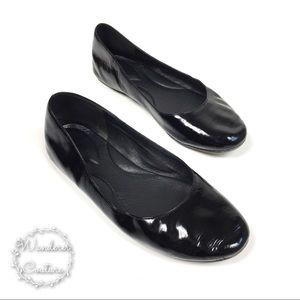 EILEEN FISHER Black Patent Leather Flats